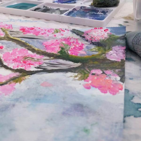 Participant's Sakura inspired artwork