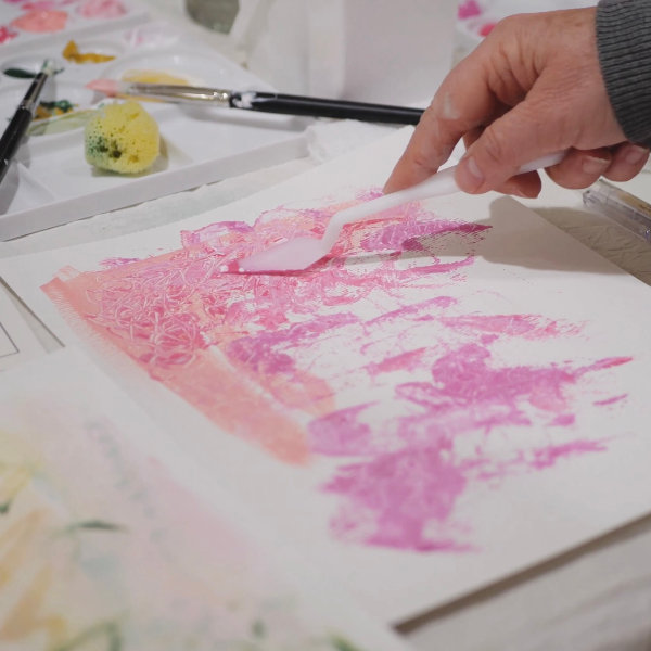 Painting with a palette knife