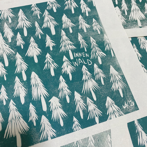 First prints of the Innenwald book covers