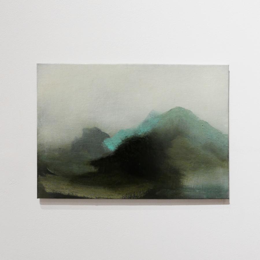 Pochade box painting for the Innenwald bookshelf exhibition